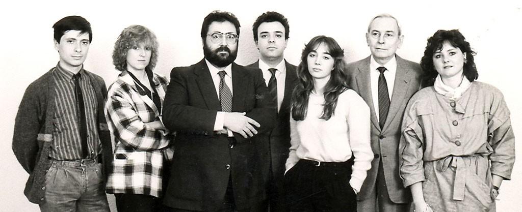L'equip de Publintur el 1985