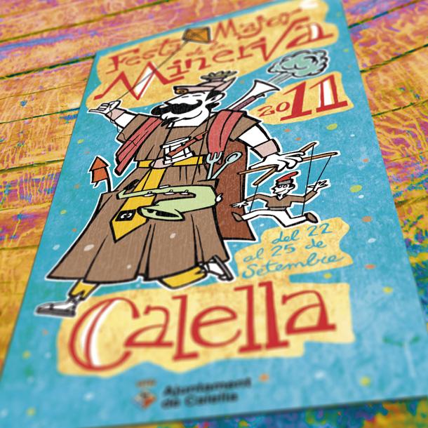 Cartell de la festa major de la Minerva de Calella 2011