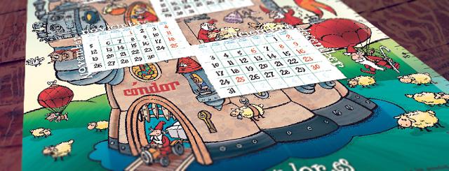 Calendari Condor per a l'any 2012