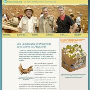 Jaciments de la Sierra de Atapuerca a evoluciona.org
