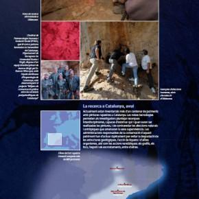 Plafó número 27 de l'exposició sobre les pintures rupestres de la Roca del Moros del Cogul