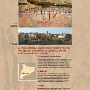 Plafó número 4 de l'exposició sobre les pintures rupestres de la Roca del Moros del Cogul