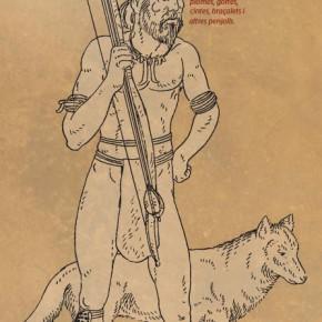 Plafó número 9 de l'exposició sobre les pintures rupestres de la Roca del Moros del Cogul