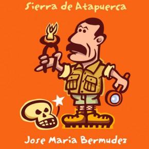 José María Bermúdez de Castro per Xavier Cáliz, dibuix per a postal