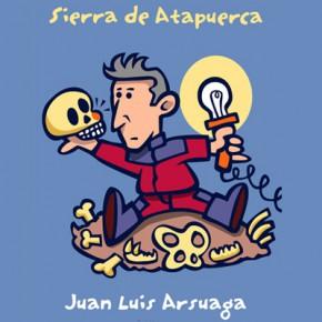 Juan Luís Arsuaga per Xavier Cáliz, dibuix per a postal