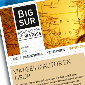 Web de viatges Bigsur