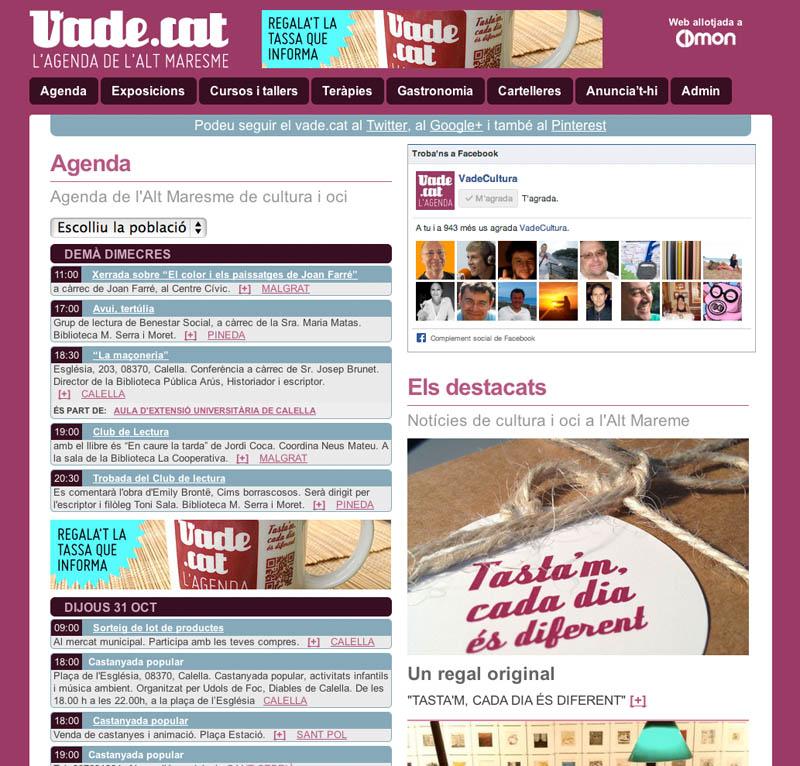 agenda online vade.cat